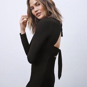A.L.C. Freya Black Long Sleeve Dress